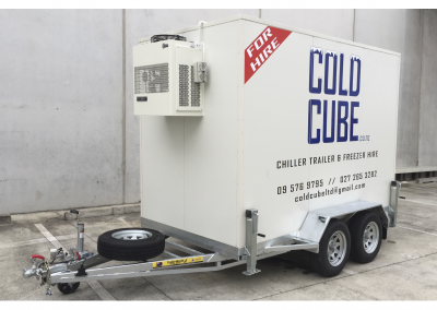 Large Cold Cube Trailer Outside